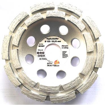 Doppel-Reihiger-Diamant-Schleifteller 125 mm